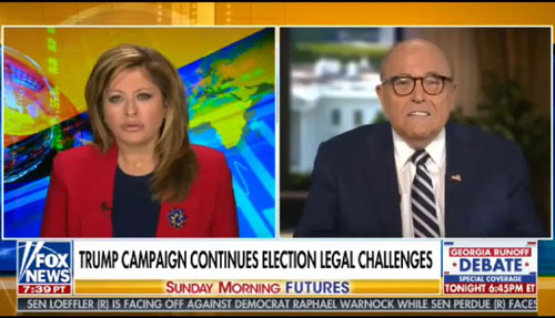 'Who got to Bill Barr?'; Giuliani says election fraud coordinated by 'somebody in Washington'