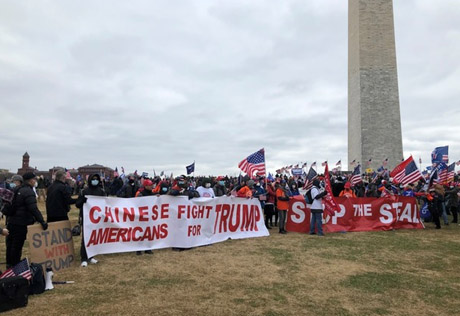 Chinese Americans stood out at Jan. 6 rally: 'I am from China; We know what corruption means'