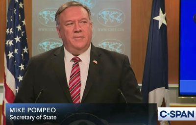 Sec. of State Pompeo goes out with a bang