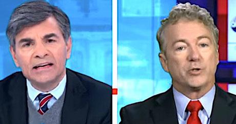 Sen. Rand Paul trips Stephanopoulos in election fraud debate