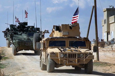 Convoy of U.S. troops enters Syria from Iraq