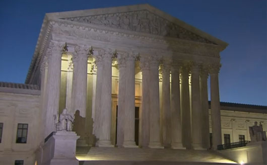 Trump suggests Supreme Court issued partisan ruling against him