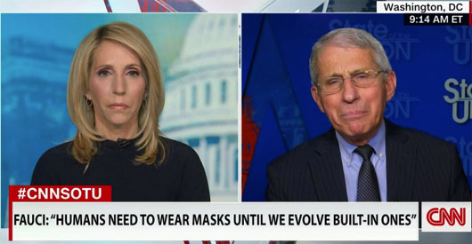 Dr. Fauci hailed for new 'scientific' mask policy: Evolution will solve 'temporary' inconvenience
