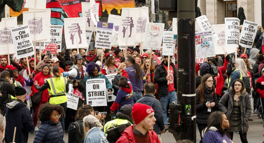 Chicago teachers issue demands for returning to work . . .