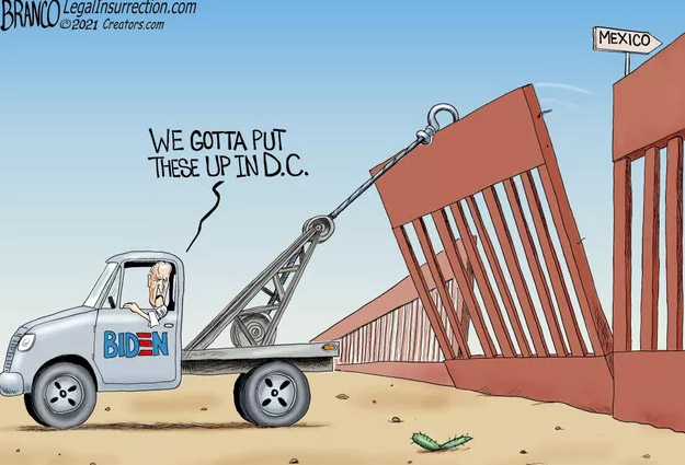 Gonna build a wall, a great big beautiful wall . . .