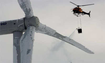 Climate change: 'Sustainable' wind energy supply frozen by rare storm