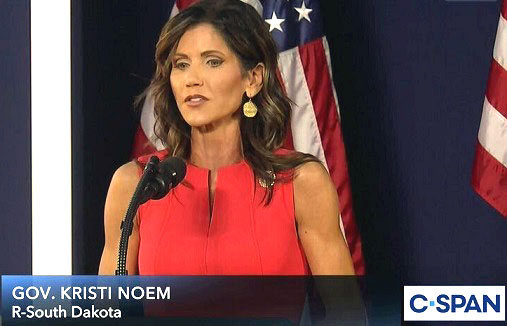 Gov. Noem slams 'very unfair' Covid bill: Rewards states for 'bad actions'