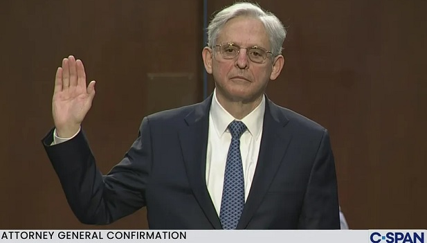 Left toasts Merrick Garland, the  Swamp elitist who served as Bloody Janet Reno's henchman