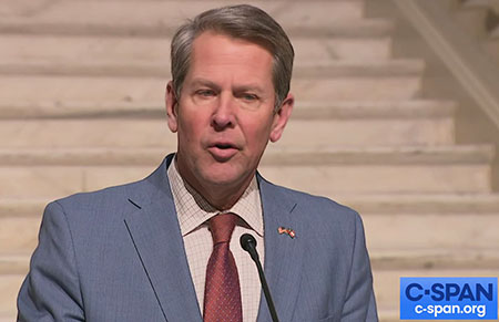 Georgia Gov. Kemp won't say if new law would have swung election to Trump
