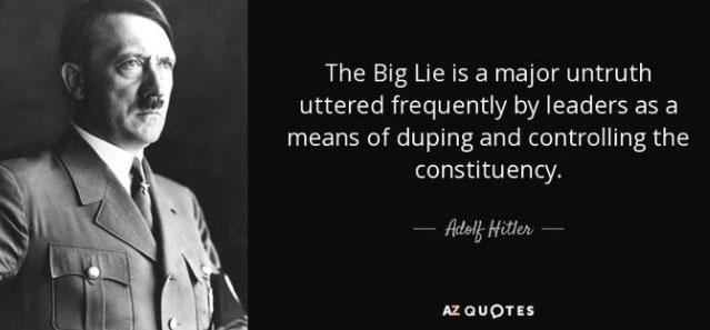 Guest Editorial: A short list of the 2020-2021 big lies