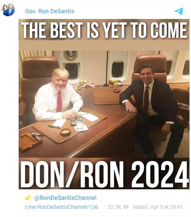 2024 ticket? DeSantis posts intriguing photo with Trump
