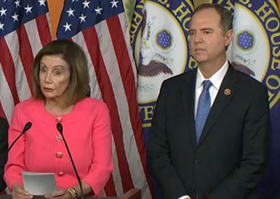 Pelosi, Schiff argue Congress can secretly subpoena phone records of citizens