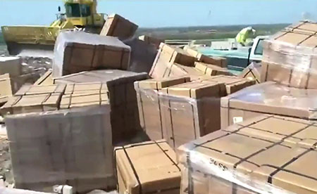Hundreds of new Chinese-made ventilators sent to garbage dump in Miami