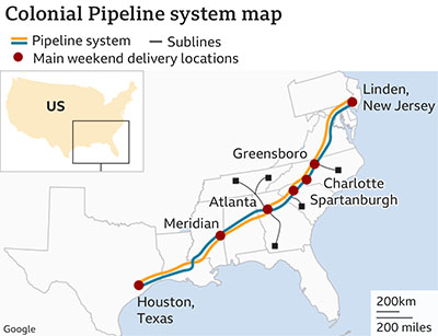 Pipeline supplying East Coast still closed: FBI blames cyber-crime gang in Russia