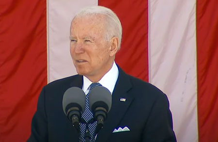 Memorial Day 2021: Biden ignores 'Rolling to Remember' rally, hits voter integrity laws