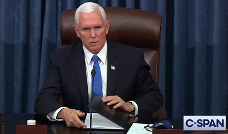 Pence, protected by 48 agents, took pricey Vail ski vacation days before fateful action