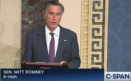 Romney announces he will vote for Jan. 6 commission