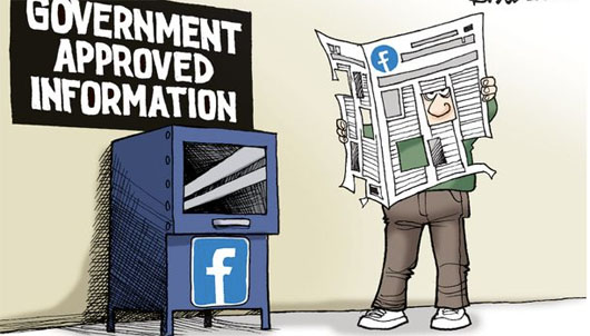 Your government advises you to read only 'credible' news