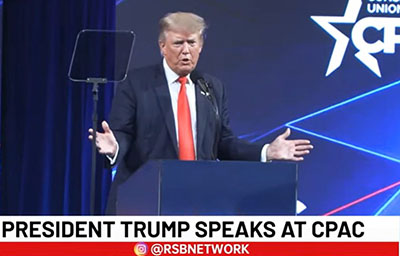 Trump: 'Radical Left is not the majority'; YouTube bans live-streaming of CPAC speech