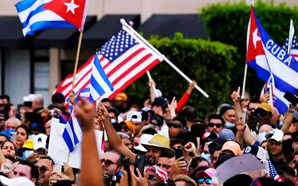 'Enough': Uprising in Cuba featuring American flags gets silent treatment from U.S. ruling class