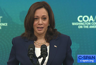 Kamala Harris pushes Democrat registration drive to stop GOP from 'taking our power'