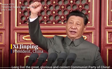 Xi Jinping honors Marxist monsters, celebrates communist privilege with 95 million comrades
