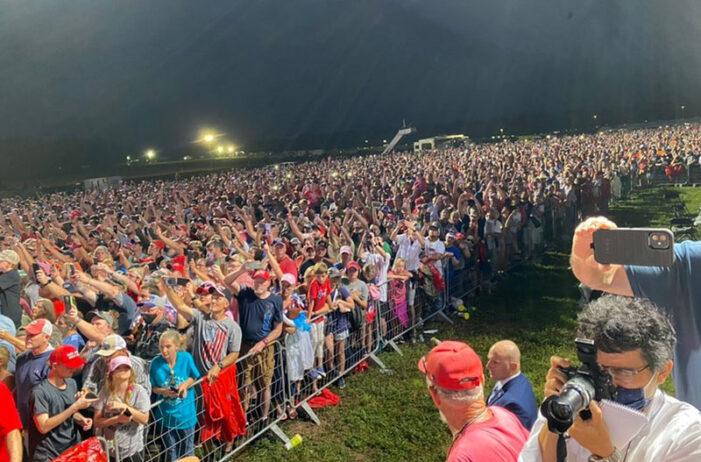 'Total surrender': Trump convicts Biden at massive Alabama rally