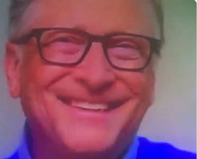 Watch his face: Bill Gates loves idea of vaccine requirement for Social Security