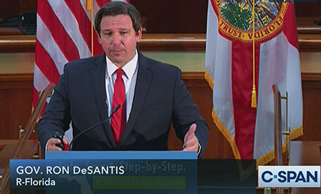 DeSantis confronts Biden: 'I'm standing in your way; I'm not going to let you get away with it'