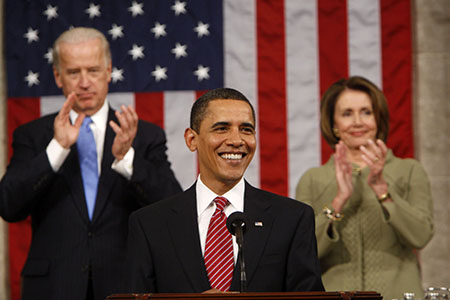 Remember when Barack Obama was front and center and 'slow Joe' was in the background?