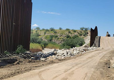 Report: Huge chunks of border wall cut out along drug-trafficking route