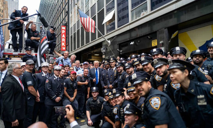 President Trump calls vax mandate a distraction, makes surprise NYC appearance on September 11